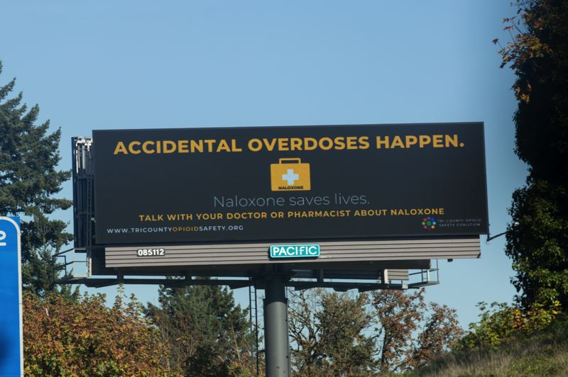 COURTESY PHOTO - Billboards are appearing across Clackamas County aimed at reducing the stigma around opioid addiction.