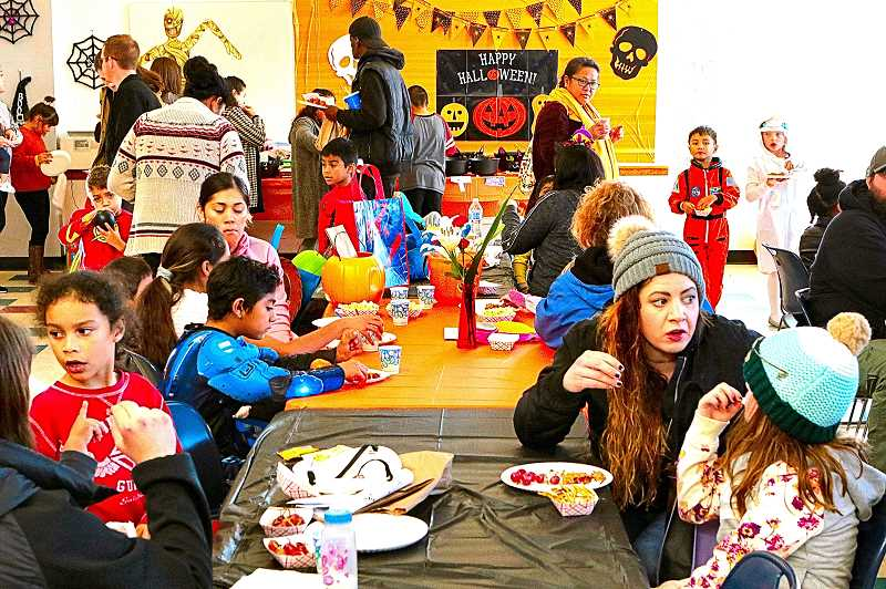 DAVID F. ASHTON - Snacks and crafts abounded inside the Community Center during this years BDNA Spook-Tacular.