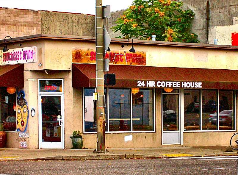 RITA A. LEONARD - Southeast Grind, for ten years Portlands 24-hour coffee shop, at 1223 S.E. Powell Boulevard - closed on October 26.