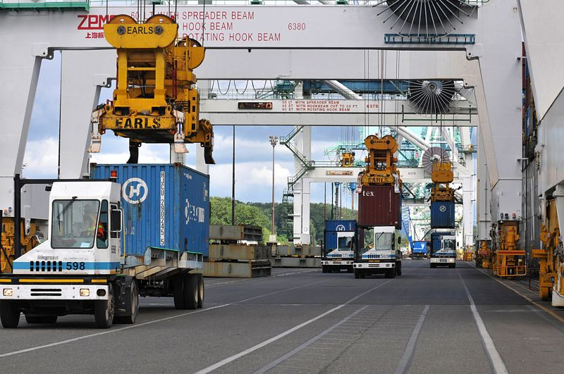 PMG FILE PHOTO - Weekly container service will be returning to the Port of Portland's Terminal 6 in December.