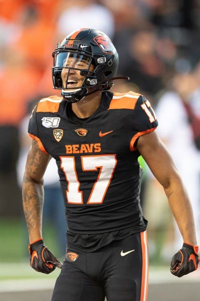 PMG PHOTO: CHRISTOPHER OERTELL - Oregon State's Isaiah Hodgins is one of the top receivers in the nation.