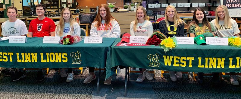 Eight West Linn athletes sign national letters of intent