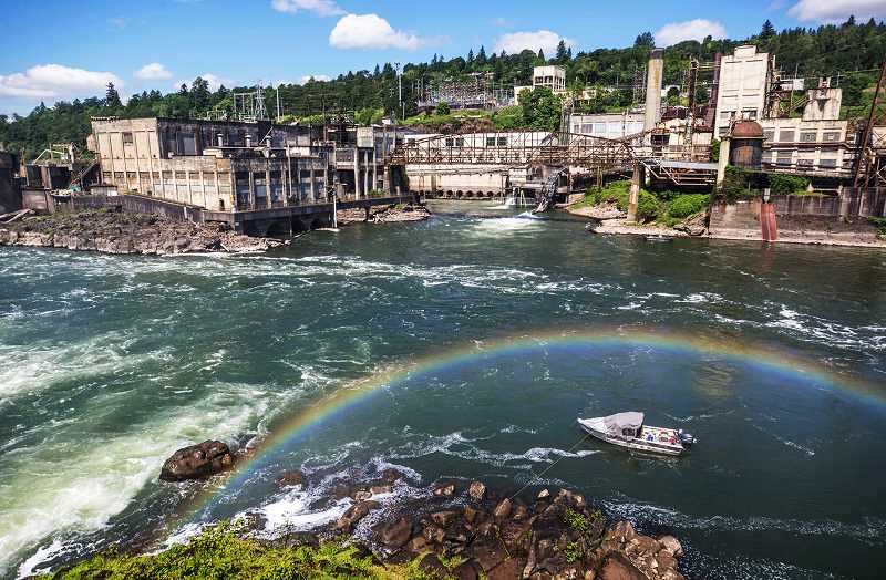 PMG PHOTO - Willamette Falls Paper Co. has produced paper from straw fibers at its mill in Oregon City.