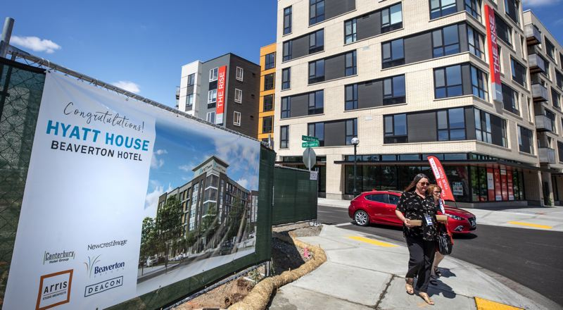 PMG PHOTO: JONATHAN HOUSE - Beaverton has been building up a modest skyline, with multiple five-story buildings sprouting in the Central Beaverton neighborhood.
