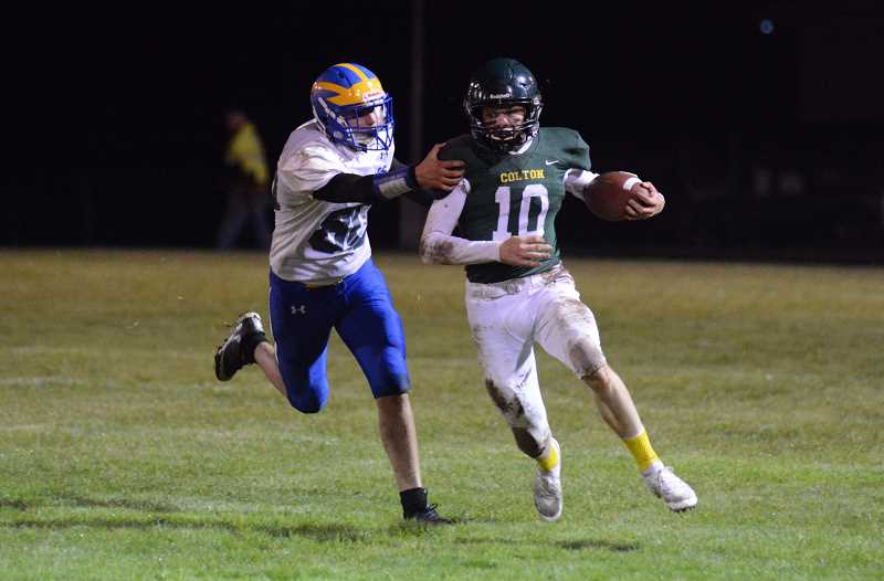 PMG PHOTO: DEREK WILEY - Colton tight end Seth Ethington had 426 yards and six touchdowns for the Vikings during the 2019 season.