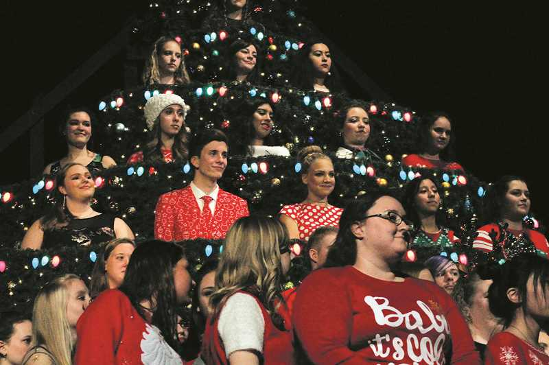 PMG FILE PHOTO - Molalla Singing Christmas Tree debuts Dec. 12 at Molalla High School's auditorium.