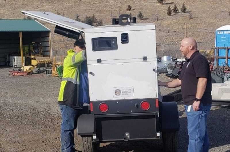 OREGON OFFICE OF EMERGENCY MANAGEMENT - A look at the 56-kilowatt generators distributed through the SPIRE program.