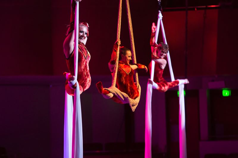 COURTESY PHOTO - Cirque Musica helps ring in a season of holiday happenings with a night of acrobats, aerialists, hilarious hijinks and holiday cheer, all set to a full orchestra, Nov. 24 at Moda Center.
