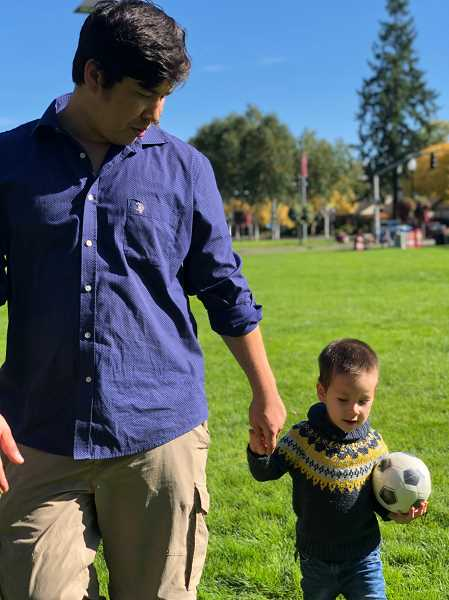 COURTESY PHOTO - Mohammad Fawad Mohammadi can now play soccer with his son, Matin.