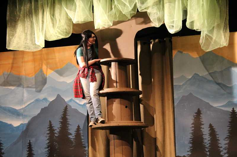 PMG PHOTO: GABBY URENDA - Banks High School Junior Sydnee Denslinger plays Sal in the show 'Walk Two Moons.' She is one of many students a part of the drama program at the school.