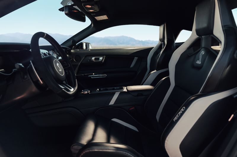 COURTESY FORD MOTOR CO. - The 2020 Shelby Mustang GT500 can be ordered with heavily-bolstered Recaro seats.