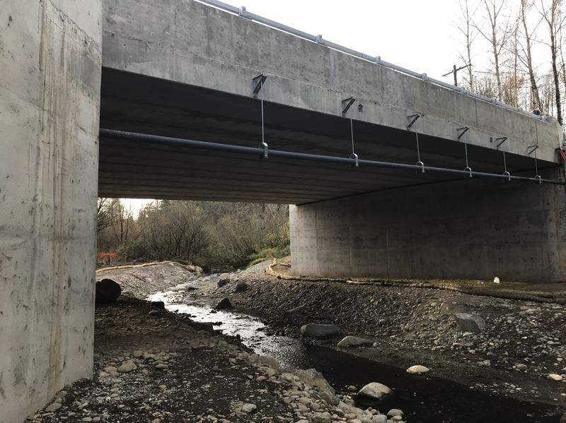COURTESY PHOTO: SANDY RIVER WATERSHED COUNCIL - The finished Cochran Road Bridge.