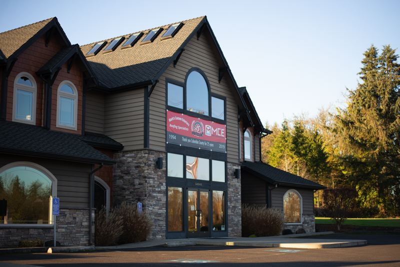 PMG PHOTO: ANNA DEL SAVIO - The current location of Mark's Custom Exteriors, a roof company, is at 58581 S. Columbia River Highway in St. Helens. At the end of the year, the company will lease this building to Columbia Community Mental Health.