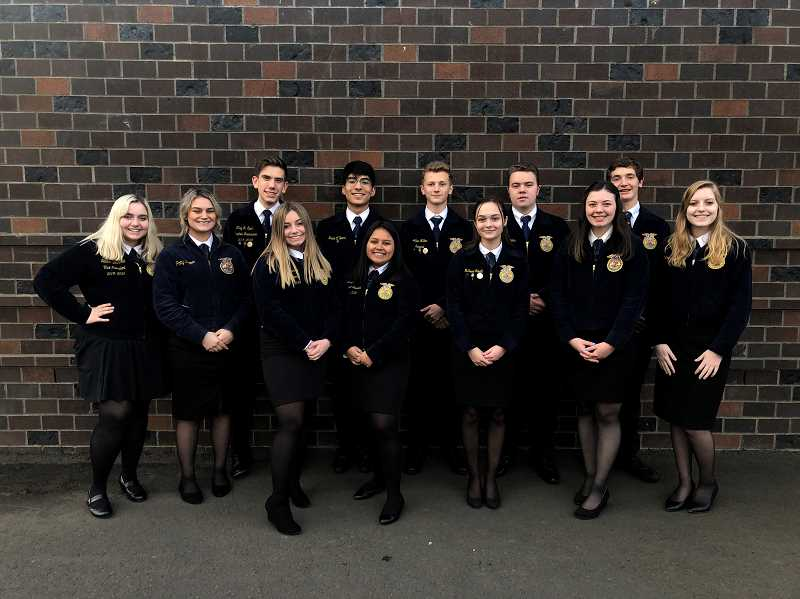 COURTESY PHOTO: MACKENZIE BEHRLE - All of Molalla's Ag Sales team members are pictured here.
