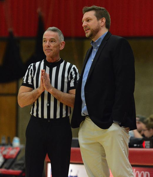 PMG PHOTO: DAVID BALL - Mt. Hood CC womens coach Jeremy Vandenboer looks to land the Saints back in the Northwest playoffs.