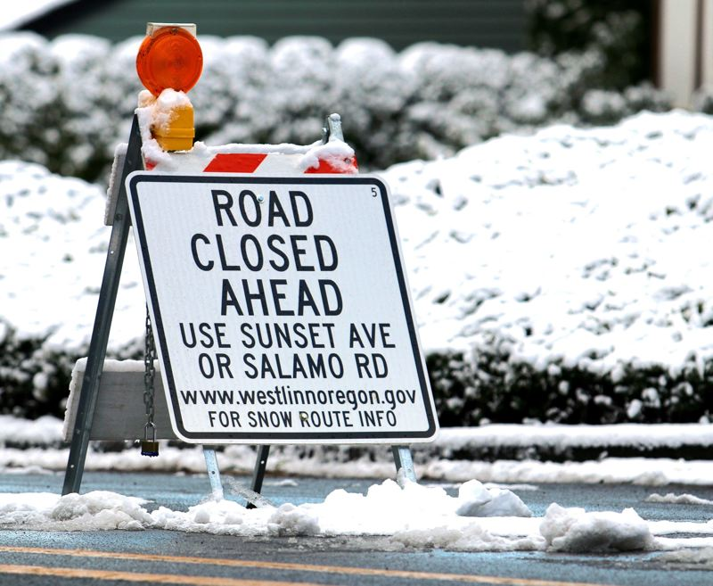 TIDINGS PHOTO: J. BRIAN MONIHAN - The Oregon Department of Transportation says rock salt is now part of the state's winter arsenal, along with sand, de-icer and plows.
