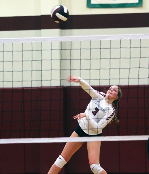 PMG PHOTO: DAN BROOD - Sherwood High School senior libero Piper Harrop was an All-Pacific Conference first-team selection for the 2019 season.