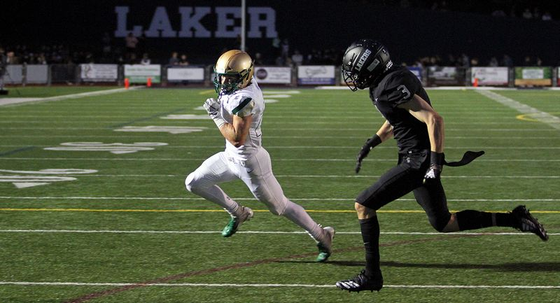 PMG PHOTO: MILES VANCE - Jesuit senior running back Ted Atkinson and the No. 2 Cruusaders are the highest-ranked team left standing in the Class 6A state playoffs; they host No. 9 Tualatin in the state quarterfinals at 7 p.m. Friday, Nov. 22.