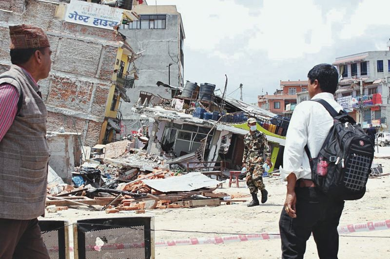 PMG FILE PHOTO - Buildings around Nepal's cities were seriously damaged in Saturday's 7.8-magnitude earthquake. Portland's Mercy Corps had nearly 90 people in Nepal after a recent earthquake. But the agency itself now struggles with internal conflicts.