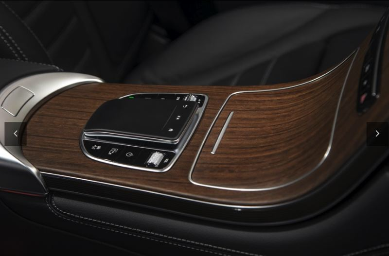 COURTESY MERCEDES-BENZ USA - An easy-to-reach touchpad controls much of the infortainment system in the 2020 Mercedes-Benz GLC 300 4MATIC SUV.
