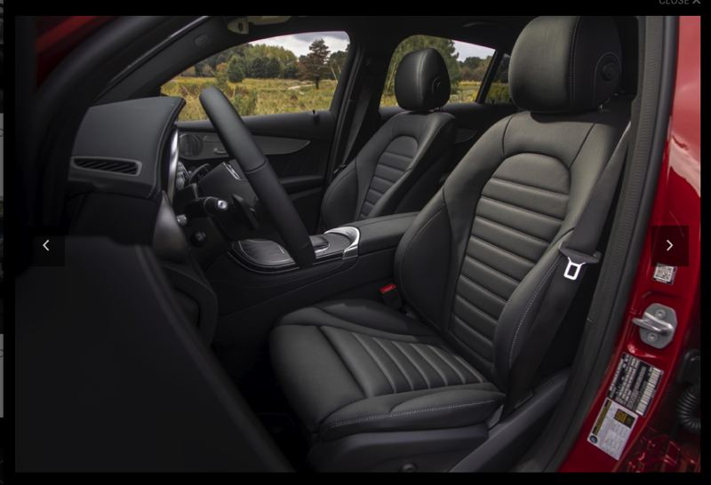 COURTESY MERCEDES-BENZ USA - The front seats in the 2020 Mercedes-Benz GLC 300 4MATIC SUV are among the most comfortable of any vehicle.