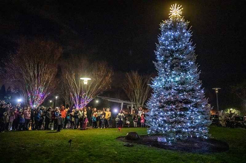 PMG FILE PHOTO - The annual tree lighting will take place in Wilsonville Dec. 4.