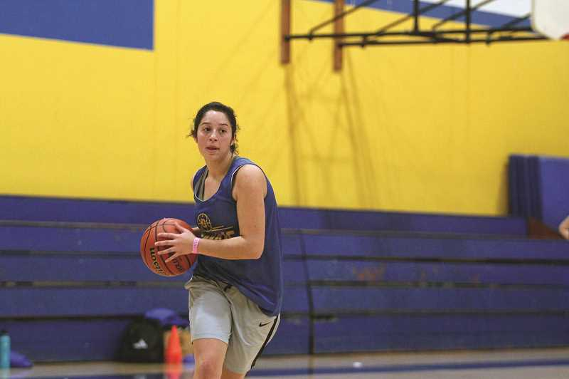 PMG PHOTO: PHIL HAWKINS - Guard Isabel Contreras is part of the Cougars strong junior class that has helped the Gervais girls basketball team post back-to-back winning seasons in 2018 and 2019.