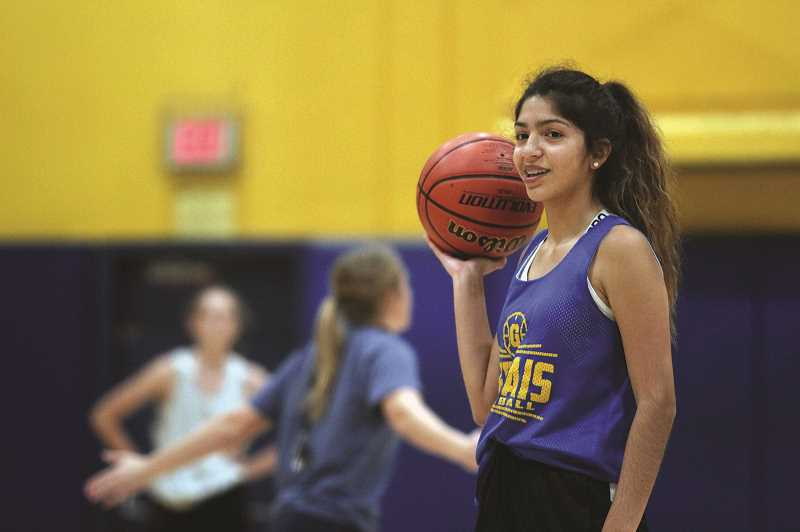 PMG PHOTO: PHIL HAWKINS - Returning guard Mayra Perez is one of two sophomores returning from last years varsity squad, joining backcourt teammate Salma Villegas. The pair are among the upcoming class of younger players looking to continue the Cougars elevated play into the coming seasons.