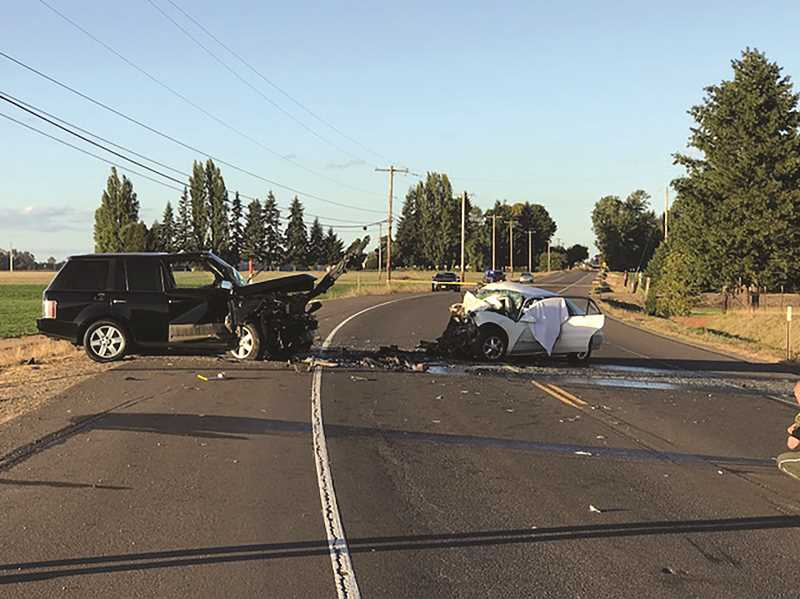PMG FILE PHOTO - Garcia's vehicle veered into the opposite lane on Highway 99E north of Salem on Oct. 8, 2017, crashing into an oncoming vehicle that killed one woman and four children.