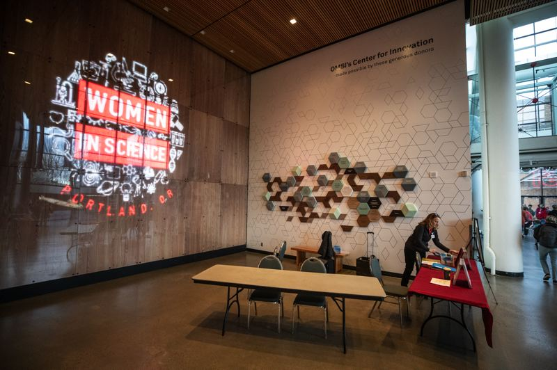 PMG PHOTO: JONATHAN HOUSE - While the new Center for Innovation aims to engage all visitors, the exhibit stations were designed with an eye toward creating STEAM experiences for a specific target group — girls ages 9 to 14, especially Latinas.
