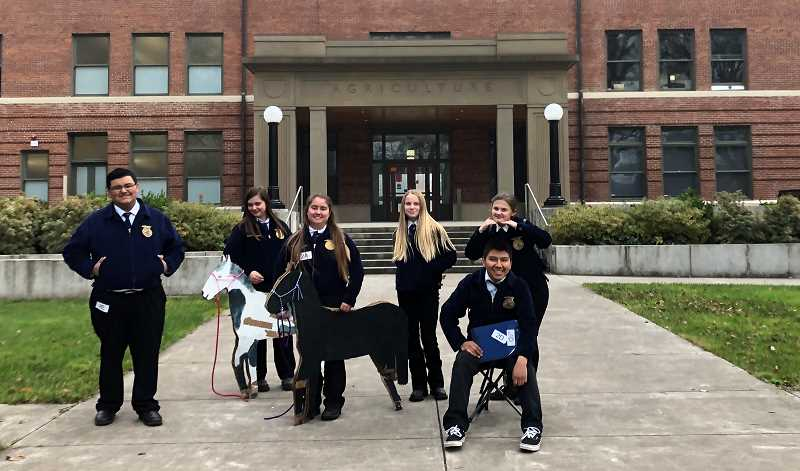 COURTESY OF MEGAN DILSON - Gervais FFA finished 12th out of 56 teams in the state competitions held Saturday, Nov. 23 at Oregon State University.