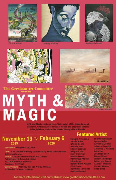 COURTESY PHOTO - 'Myth and Magic,' the city of Gresham's latest art gallery exhibition, conjures the artistic spirit of legendary as well as unknown, mystical worlds. See listing for details.