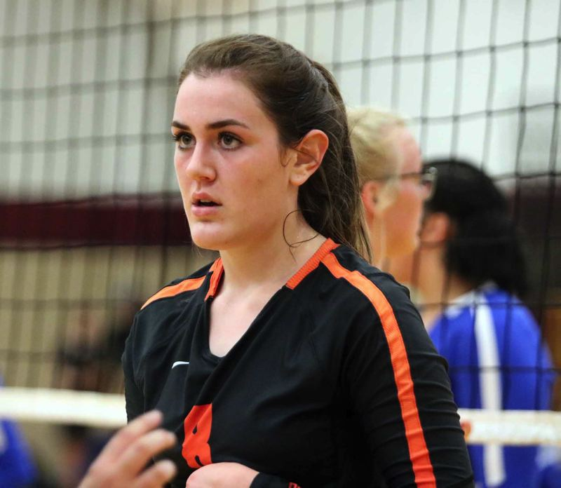 PMG PHOTO - Darci DeTroy, a senior outside hitter for Scappoose High, has been named co-Player of the Year in the Northwest Oregon Conference.