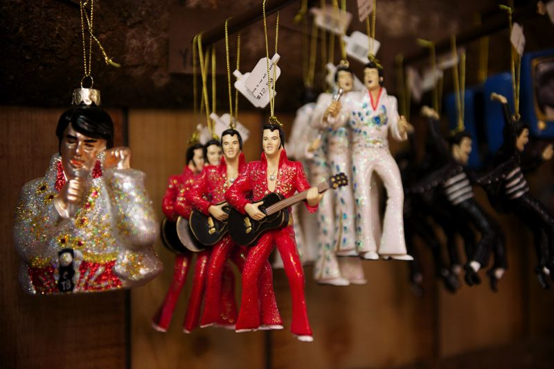 PMG FILE PHOTO - 'Tis the season for . . . Elvis Christmas tree ornaments. Local retailers hope for a good holiday season as Oregon's economy continues to steam ahead.