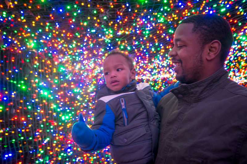 COURTESY PHOTO: MICHAEL DURHAM, OREGON ZOO - More than 1.5 million brightly colored lights transform the Oregon Zoo into a walk-through winter wonderland during ZooLights, opening Nov. 29.