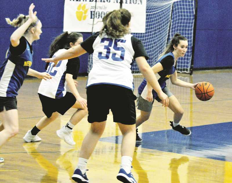 GRAPHIC PHOTO: GARY ALLEN - While the Newberg girls basketball team might not have a height advantage over its opponents, the Tigers are hoping a versatile group of guards can fill up the stat sheet this season.
