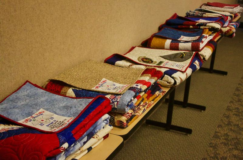 PMG PHOTO: CHRISTOPHER KEIZUR - The Gresham Senior Center hosted the Quilt of Valor ceremony, which honored local veterans.
