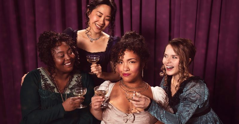 COURTESY PHOTO: KATE SZROM/PCS - Stars of 'Miss Bennet: Christmas at Pemberley' at The Armory are (from left) Treasure Lunan, Cindy Im, Lauren Modica and Kailey Rhodes.