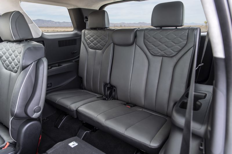 HYUNDAI MOTOR AMERICA - The third row of seats in the 2020 Hyundai Palisade are large enough for two adults or three teens.