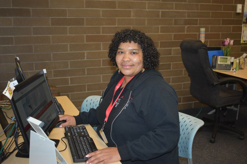 PMG PHOTO: TERESA CARSON - Rhonda Johnson is a graduate of the Mt. Hood Community College Transitions program and now mentors other women.