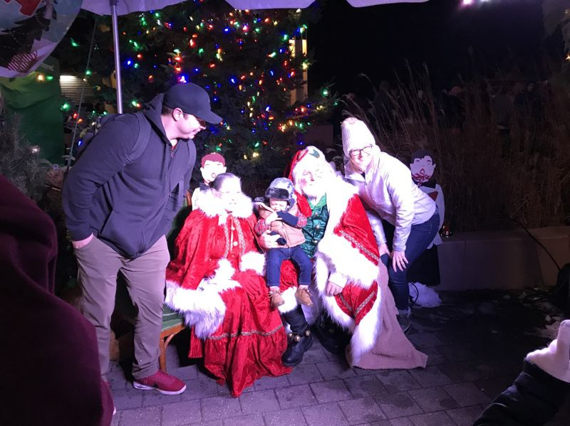 COURTESY PHOTO: CITY OF GRESHAM - Santa and Mrs. Claus were the celebrity guests during the Spirit of Christmas celebration Saturday evening, Nov. 30.