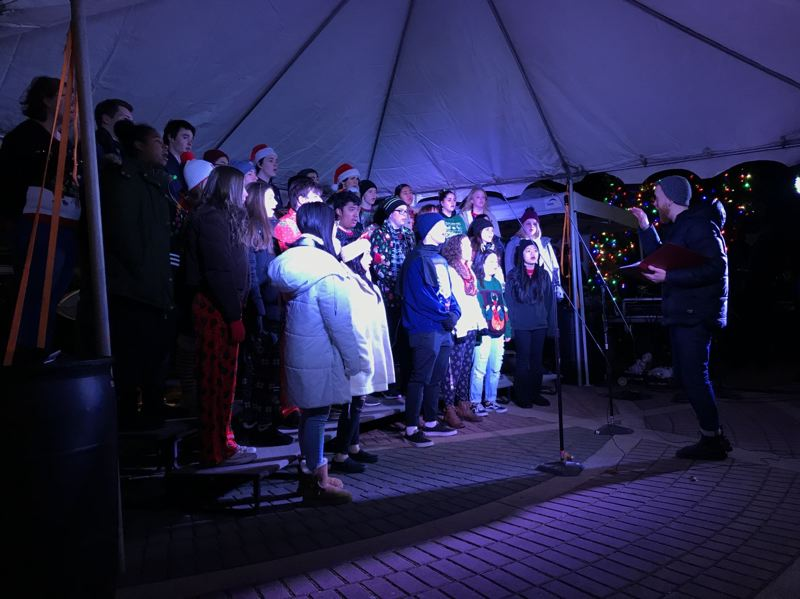 COURTESY PHOTO: CITY OF GRESHAM - Local groups and schools performed holiday music during the Spirit of Christmas gathering.