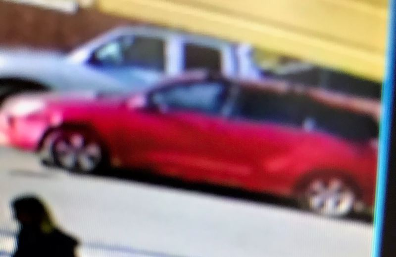 PORTLAND POLICE BUREAU - An image of the suspect vehicle from a surveillance video.