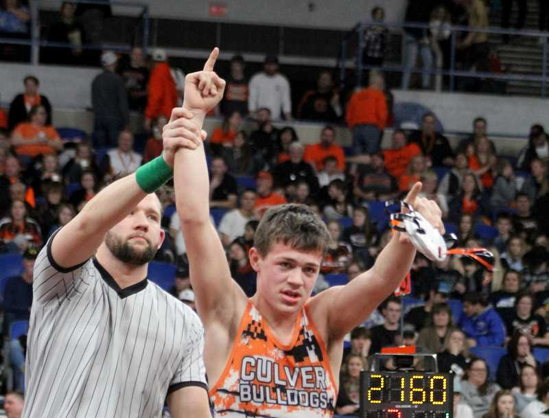 STEELE HAUGEN - Lane Downing is the lone Culver state champion returning for this upcoming season. The Bulldogs host a tournament Dec. 13-14.