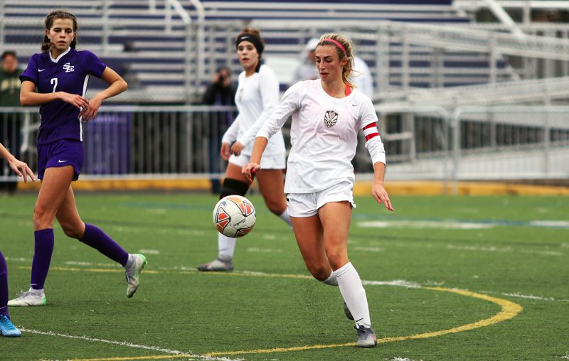 PMG PHOTO: DAN BROOD - Tualatin High School senior midfielder Abby Borg was an All-Three Rivers League first-team selection for her play in the 2019 season.