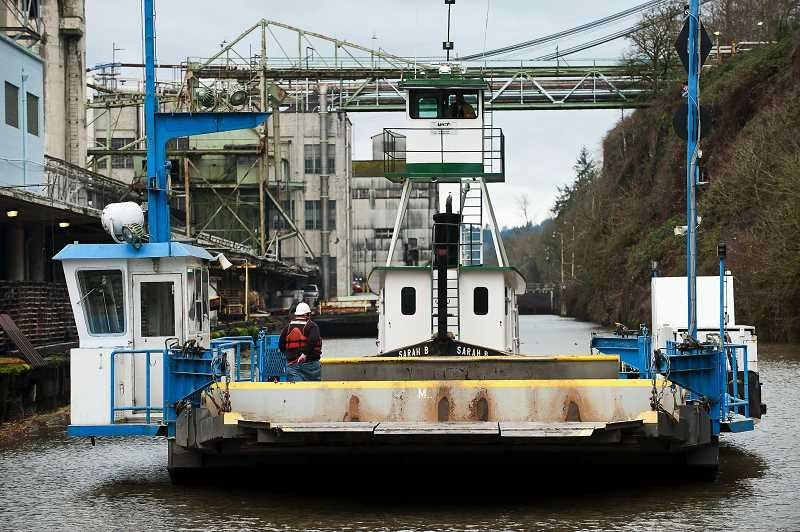 PAMPLIN FILE PHOTO - Willamette Falls Locks was nominated as one of Oregons Most Endanged Places in 2012.