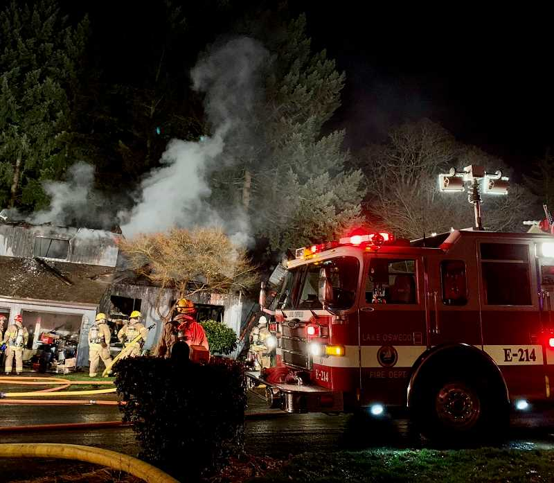 COURTESY PHOTOS: GERT ZOUTENDIJK  - A house on Oriole Lane was destroyed by a fire Monday night.
