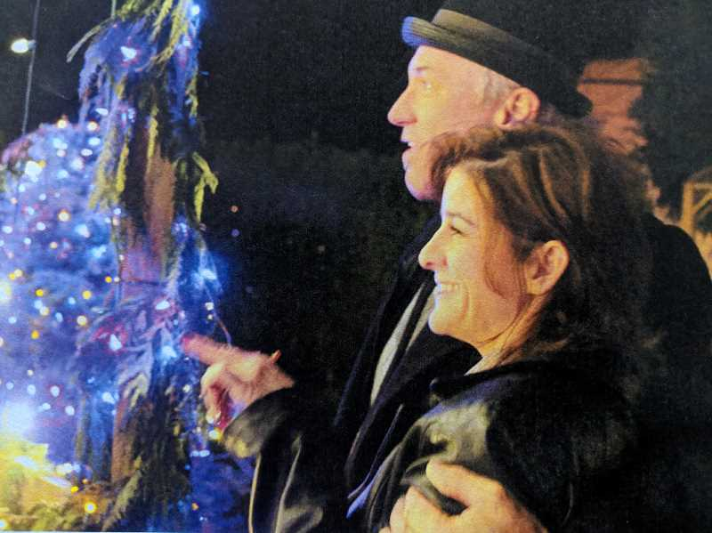 COURTESY PHOTO - Attendees of the Aspen Meadow Band's Celebration of Lights admire the display.