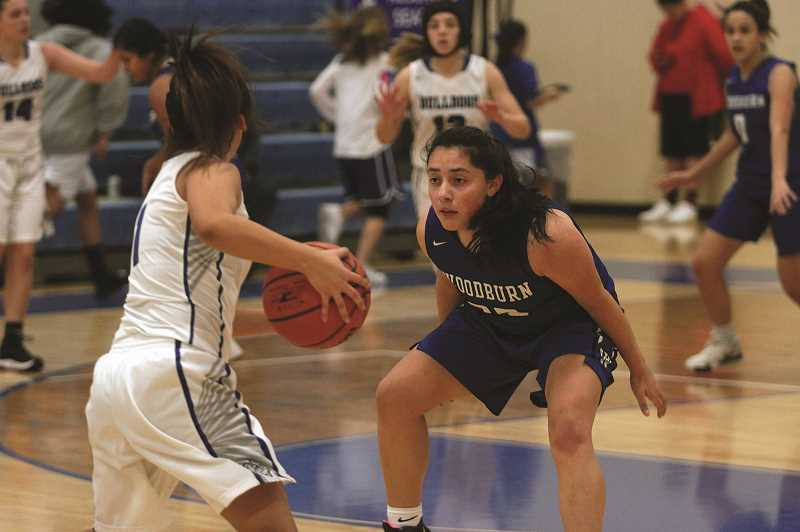 PMG PHOTO: PHIL HAWKINS - Sophomore Briana Cruz and the Bulldogs will look to play a more trapping defense this year, as they try to build more of their offense around transition buckets.