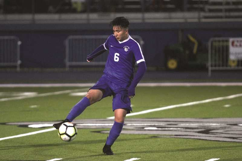 PMG PHOTO: PHIL HAWKINS - Woodburn junior Ricardo Hernandez was named 2019 Oregon West Co-Player of the Year for the eventual 4A boys soccer state champion Bulldogs.